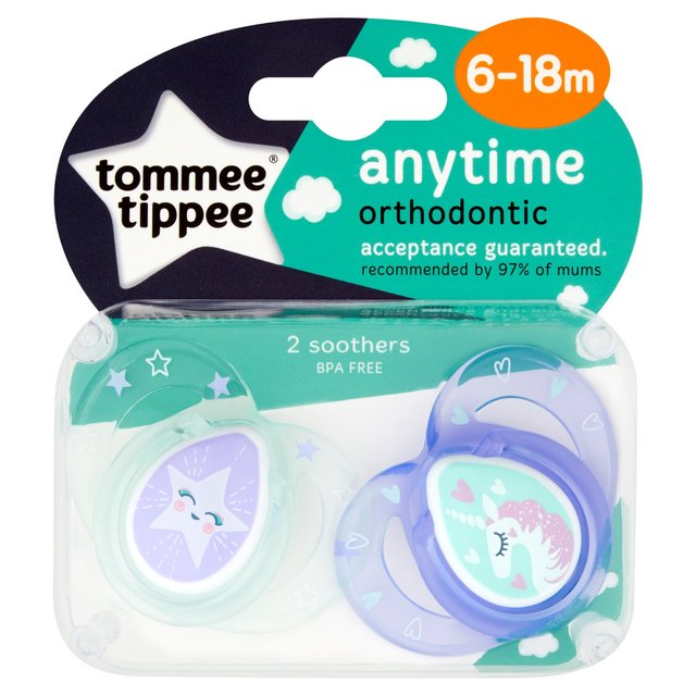 Tommee Tippee Girls Anytime Soother 6-18M