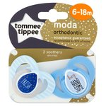 Tommee Tippee Closer To Nature Moda Orthodontic Soothers 6-18M