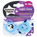 Tommee Tippee Closer To Nature Night Time Orthodontic Soothers 18-36M