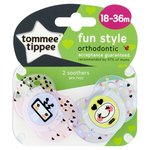 Tommee Tippee Closer To Nature Fun Style Orthodontic Soothers 18-36M