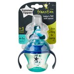 Tommee Tippee Transition Cup Babys 1st soft spout (colours may vary)