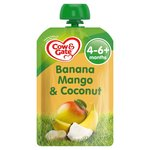 Cow & Gate Banana, Mango & Coconut Pouch 4 Months+