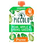 Piccolo Organic Pear, Apple & Spring Greens with Hint of Mint 4m+