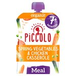 Piccolo Organic Spring Vegetables & Chicken Casserole with Rice 7m+