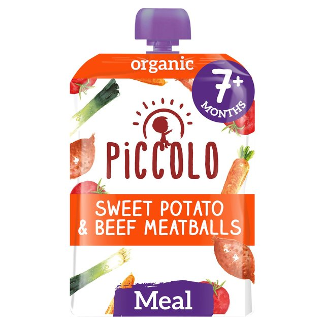 Piccolo Organic Sweet Potato & Beef Meatballs with Tomato & Herbs 7m+