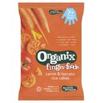 Organix Finger Foods Carrot & Tomato Rice Cakes 7M+