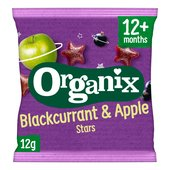 Organix Blackcurrant & Apple Stars Organic Fruit Shape Toddler Snacks