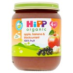 Hipp Organic Apple, Banana & Blackcurrant 4+M
