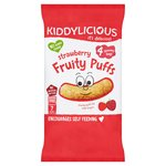 Kiddylicious Strawberry Fruity Puffs Yummy Bags x 4