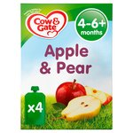 Cow & Gate Apple & Pear Pouches Multipack