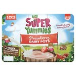 Cow & Gate Super Yummies Strawberry Dairy Pots 12M+