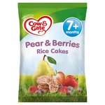 Cow & Gate Pear & Red Berries Rice Cakes 7M+