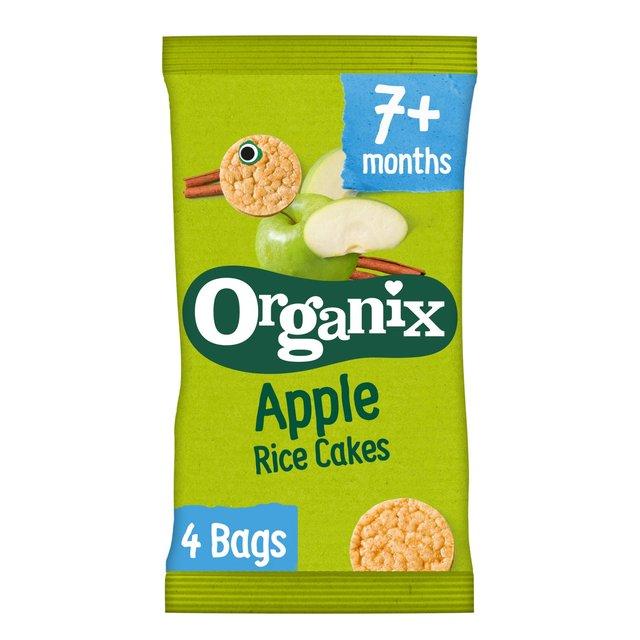 Organix Apple Organic Baby Finger Food Snack Rice Cakes Multipack