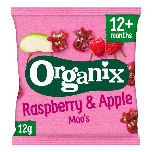Organix Raspberry & Apple Moos Organic Fruit Shape Toddler Snacks