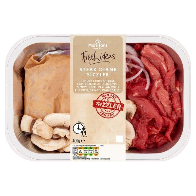 Morrisons Fresh Ideas Steak Diane Sizzler