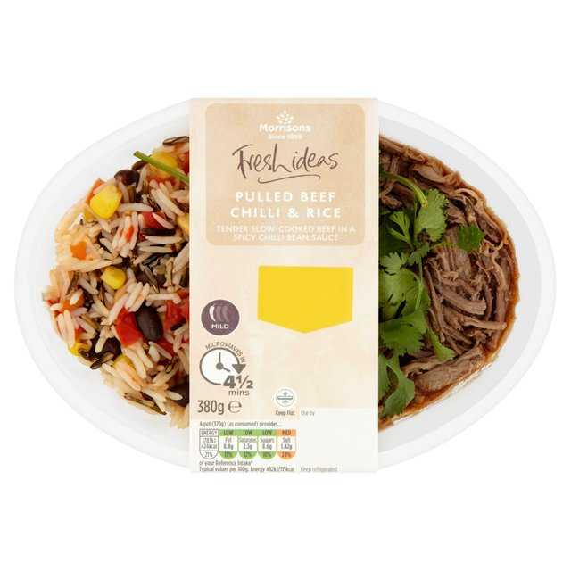 Morrisons Fresh Ideas One Pot Pulled Beef Chilli Rice