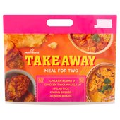 Morrisons Indian Takeaway Chicken Korma & Chicken Tikka Masala