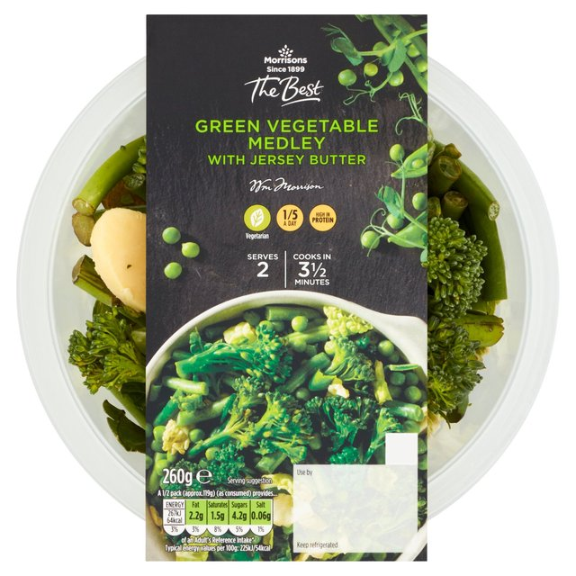 Morrisons The Best Green Vegetable Medley With Jersey Butter