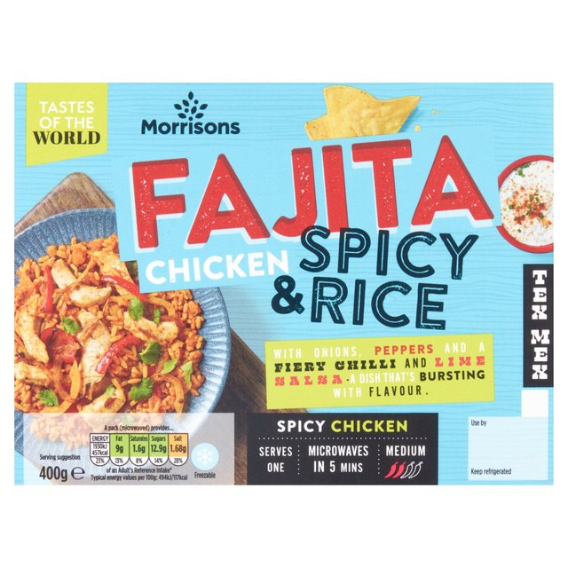 Morrisons Tex Mex Fajita Chicken & Spicy Rice