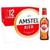 Amstel Lager Beer Bottles