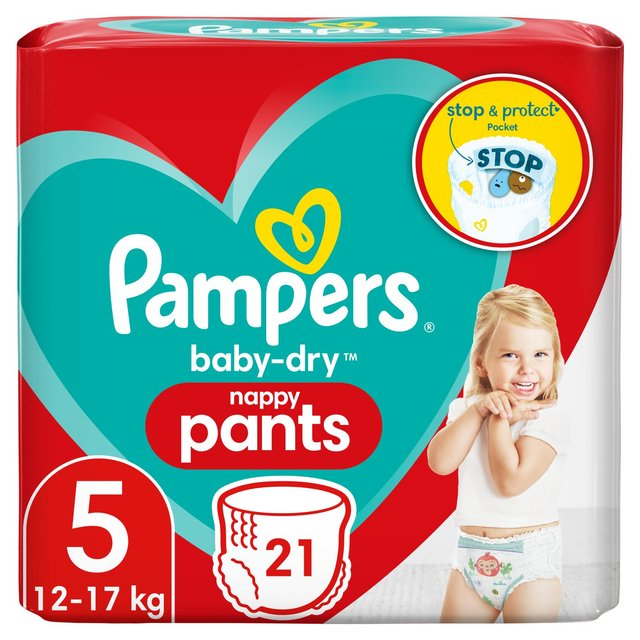 Pampers Baby Dry Pants Size 5 Carry Nappies
