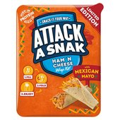 Attack A Snack Ham N Cheese Wrap With Mexican Mayo