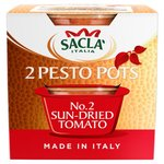 Sacla 2 Pesto Pots No. 2 Sun Dried Tomato
