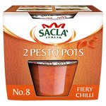 Sacla 2 Pesto Pots No. 8 Fiery Chilli