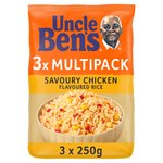 Uncle Ben's Savoury Chicken Flavoured Rice 3Pk