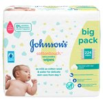 Johnson's Extra Sensitive Baby Wipes Fragrance Free 56 Wipes x 4 pack