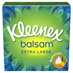 Kleenex Balsam Tissues Compact Box Extra Large Sheets