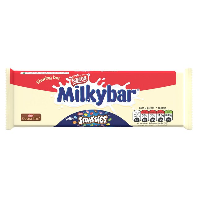 Morrisons: Milkybar Smarties Chocolate Sharing Block 100g