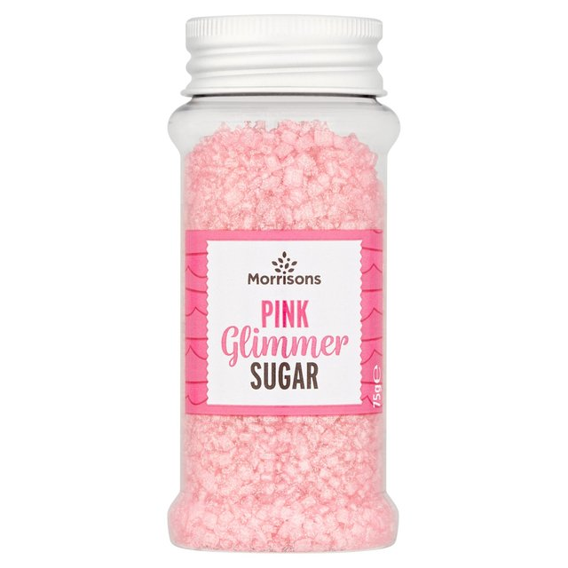 Morrisons Pink Glimmer Cake Decorations