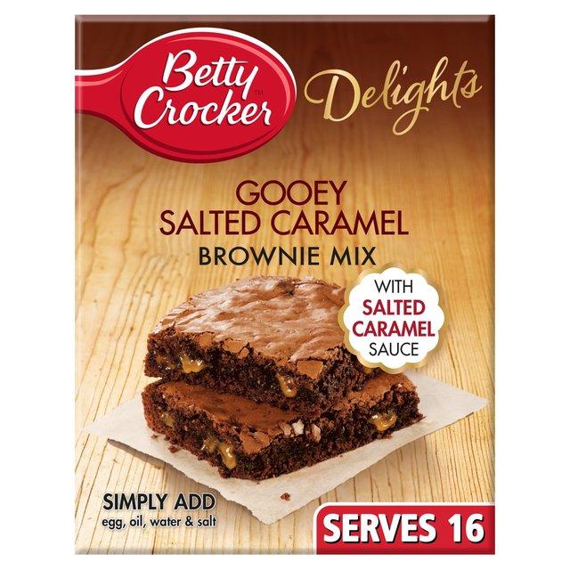 Morrisons Betty Crocker Delights Gooey Salted Caramel Brownie Mix