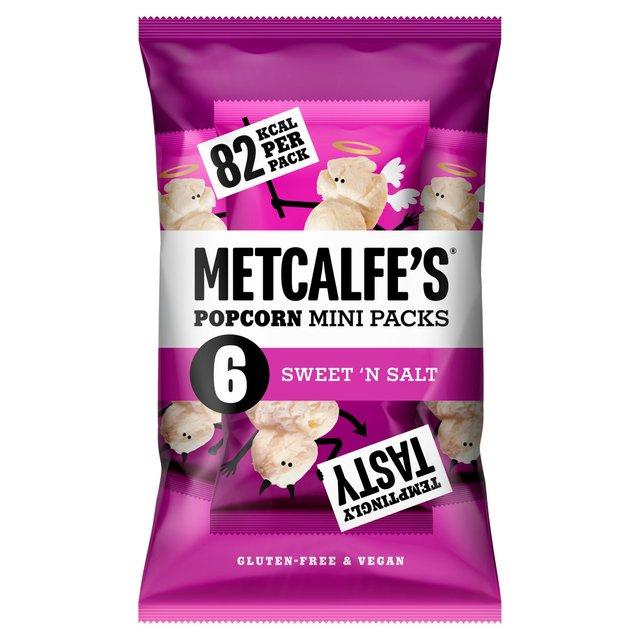 Metcalfe's skinny Sweet 'n Salt Multipack Popcorn x6