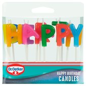 Dr. Oetker Lettered Happy Birthday Candles