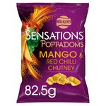 Walkers Sensations Mango & Red Chilli Chutney Poppadoms