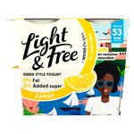 Danone Light & Free Greek Style Yogurt Lavish Lemon