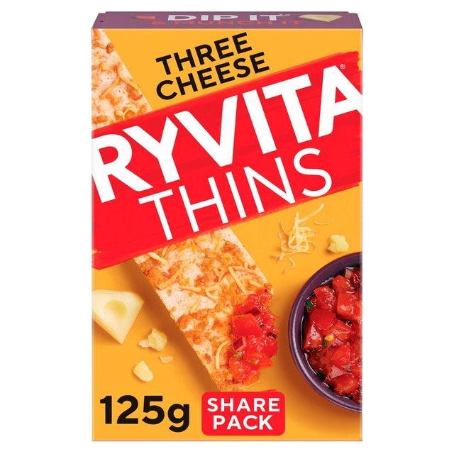 Ryvita Topped 3 Cheese Cracker Thins