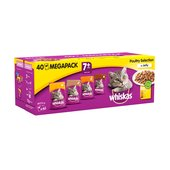 Whiskas 7+ Years Poultry Selection In Jelly 40 Mega Pack