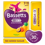 Bassetts Vitamin +Omega 3 Tropical 30's 7-11 Years