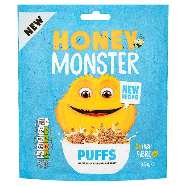 Honey Monster Puffed Wheat Cereal