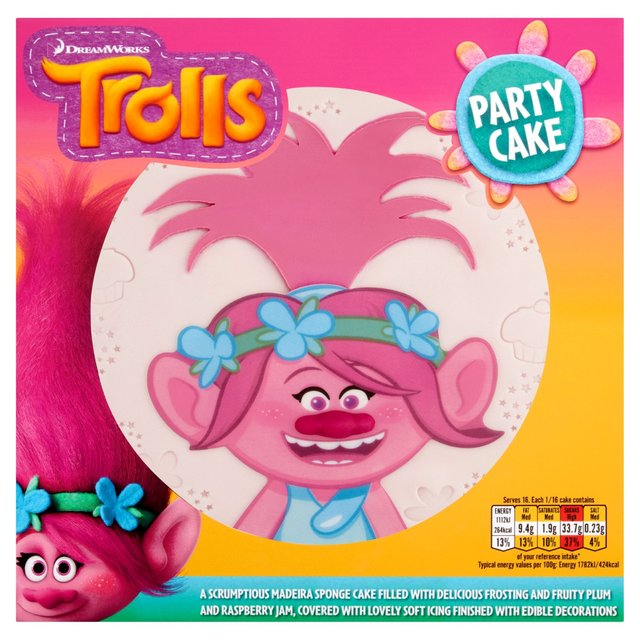 Cake Decorations In Asda : Morrisons: Dreamworks Trolls Party Cake (Product Information)