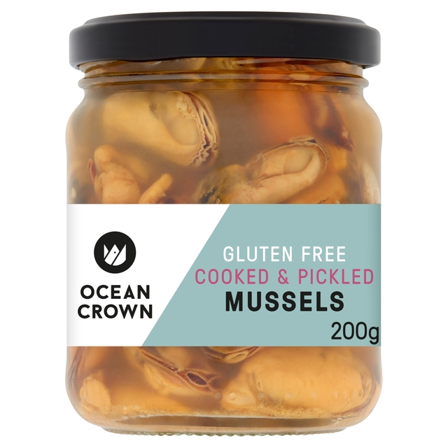 Ocean Crown Gluten Free Cooked & Pickled Mussels