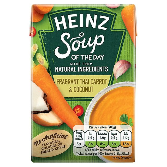 Heinz Soup of the Day Fragrant Thai Carrot & Coconut