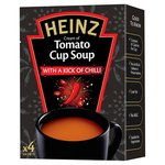 Heinz Cream of Tomato Cup Soup with a Kick of Chilli
