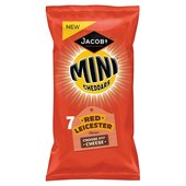 Jacobs Mini Cheddars Red Leicester 7PK
