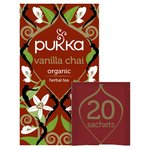 Pukka Vanilla Chai, Organic Herbal Tea with Cinnamon & Cardamom, 20 Sachets