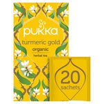 Pukka Turmeric Gold, Organic Herbal Tea with Lemon  20 sachets