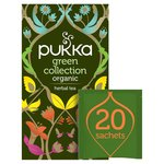 Pukka Green Collection, Selection of Five Organic Green Teas, 20 Sachets